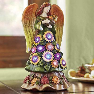 Fiber Optic Harvest Angel Figurine