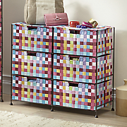 Pretty Pixels 6-Drawer Woven Organizing Bin