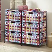 pretty pixels 6 drawer woven organizing bin