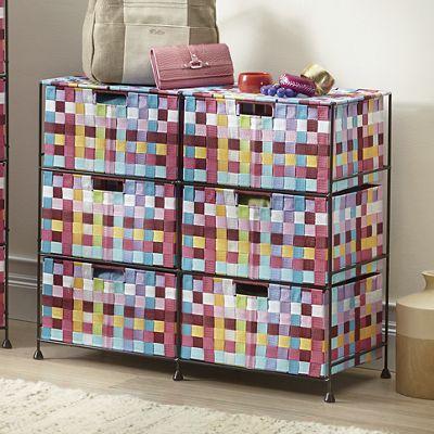 Pretty Pixels 6-Drawer Woven Organizing Bin