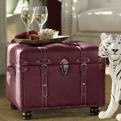 Faux Leather Padded Trunk