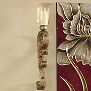 goldtone wall sconce