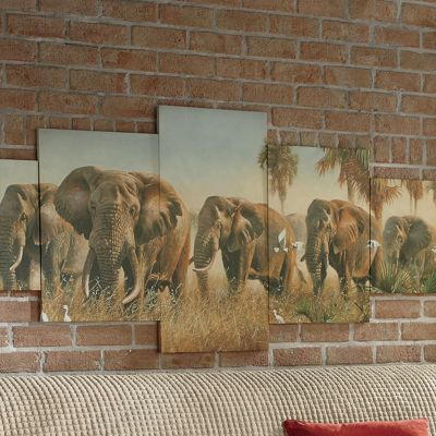 5-Piece Elephant Canvas Wall Art