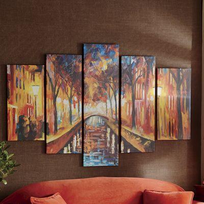 5-Piece Street Canvas Wall Art Panel Set