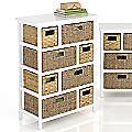 8-Drawer Hodgepodge Basket Stand