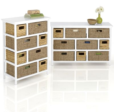 8- or 9-Drawer Hodgepodge Basket Stand