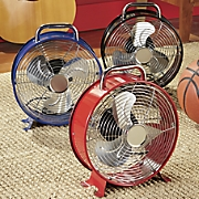 Cool Retro Metal Drum Fan