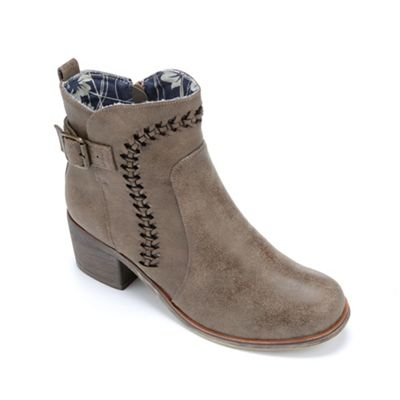 Whipstitch Buckle Bootie by Seventh Avenue