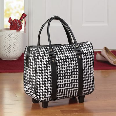 Classic Houndstooth Carry-On