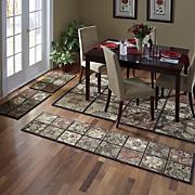 4-Piece Antique Tile Rug Set