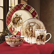 16-Piece Winter Wilderness Dinnerware Set by Canterbury