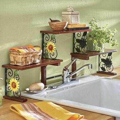 Excellent Sunflower Over-The-Sink Shelf   Country Door MX84