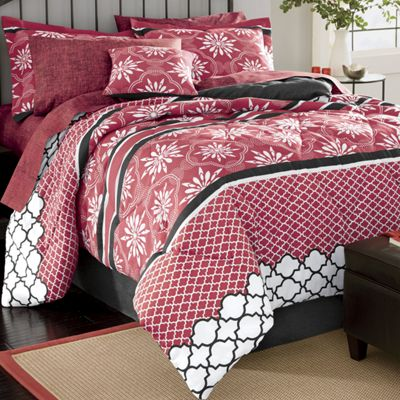 Toliver Complete Bed Set, Window Treatments and Decorative Pillow