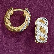 swirl hoop earrings