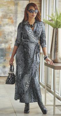 Iyanni Faux Wrap Dress