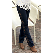 lace up slim jean 88