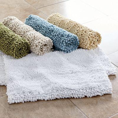 Puff Chenille 2-Piece Bath Mat Set