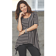 Mismatched Stripe Tunic