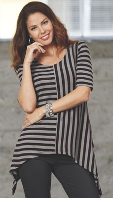 Mismatched Stripe Tunic