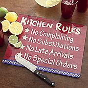 Kitchen Rules Glass...