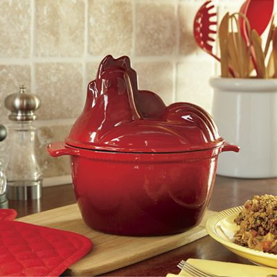 1.5-Qt. Rooster Cast Iron Dutch Oven