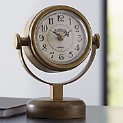 Wood & Gold Table Clock
