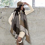 tweed plaid wrap