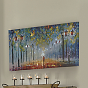 Autumn Streetlight Art & Large Floral Canvas from Through the Country Door | NI733933 Pezcame.Com