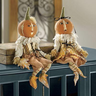 Peter Pumpkin and Lucille Leaf Figurine