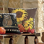 Brown Sunflower Pillow