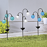 3 orb solar light stake
