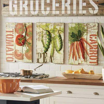 Set of 3 Vegetable Art