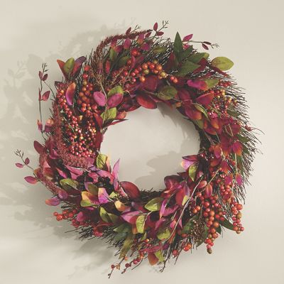 Berry Leaves Wreath From Country Door Nn741205