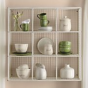 9-Cubby Wire Wall Unit