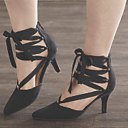 Ribbon Lace-Up Pump by Classique
