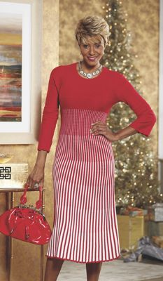 Shantel Ombre Striped Sweater Dress