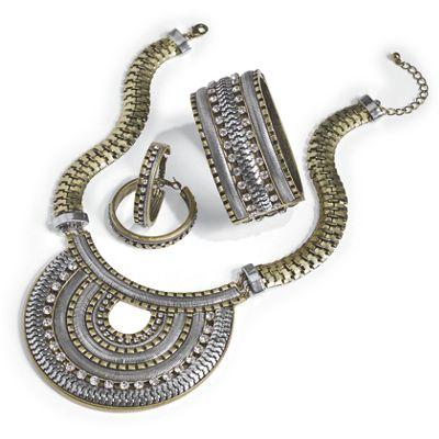Two-Tone Crystal Jewelry