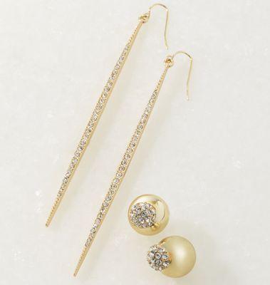 2-Pair Crystal Earring Set