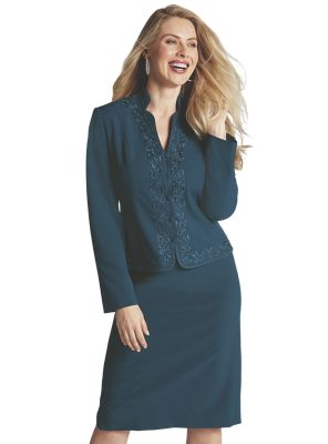 Jada Embroidered Skirt Suit