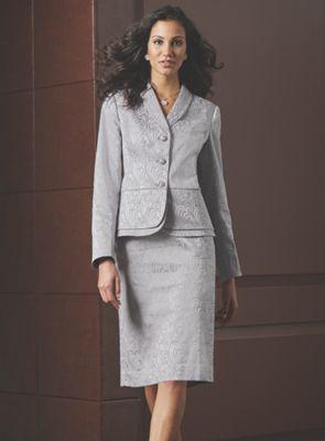 Scroll Jacquard Suit