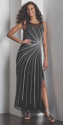Starburst Beaded Gown