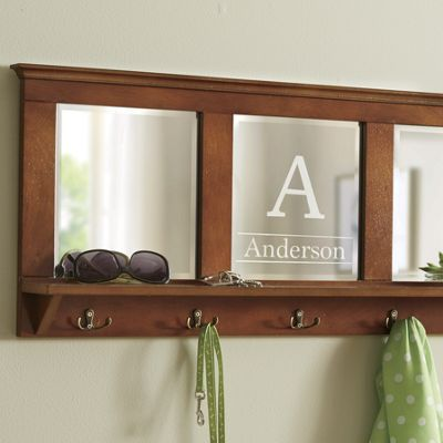 Personalized Mirrored Wall Hooks