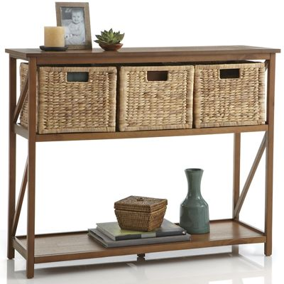 Console Woven Basket Drawers