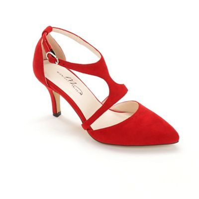 Split Top T-Strap Shoe by Midnight Velvet