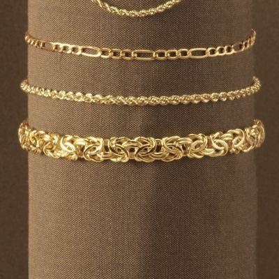 10K Gold Byzantine Bracelet