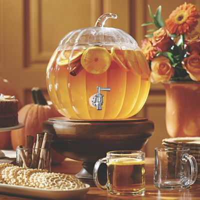 2-Gallon Glass Pumpkin Beverage Dispenser