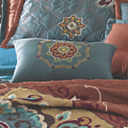 rajine embroidered accent pillow