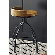 blake short wood seat stool