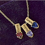 Name/Birthstone Charm Necklace