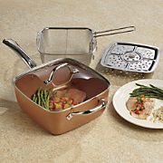 5-Piece Deep Square Pan Set by Copper Chef - As Seen On TV